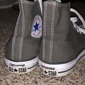 Gray high top converse